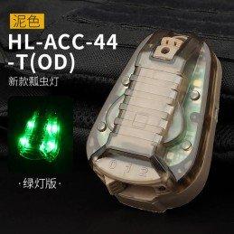 Luz de señalización verde tan casco