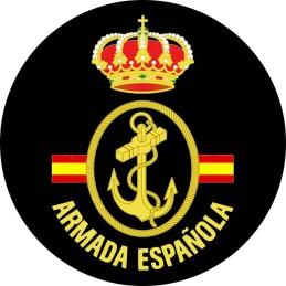 Parche Armada Española bandera detrás