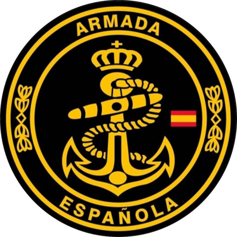 Parche Armada Española negro y amarillo