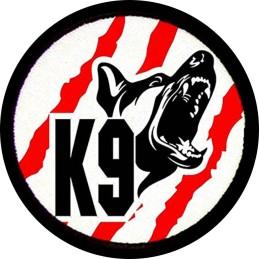 Parche K9 blanco, negro y rojo